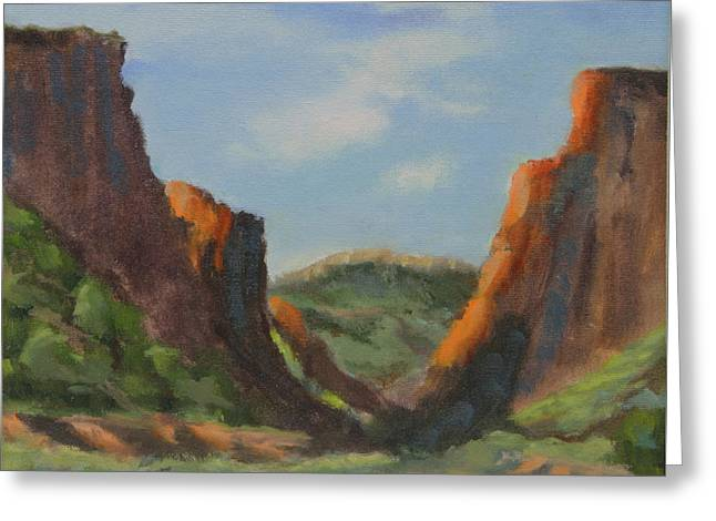 Late Afternoon In Diablo Canyon  Greeting Card by Maria Hunt
