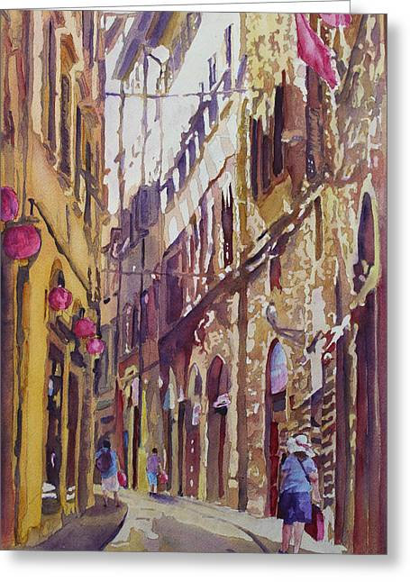 Italian Landscapes Greeting Cards - Late Afternoon in Florence Greeting Card by Jenny Armitage