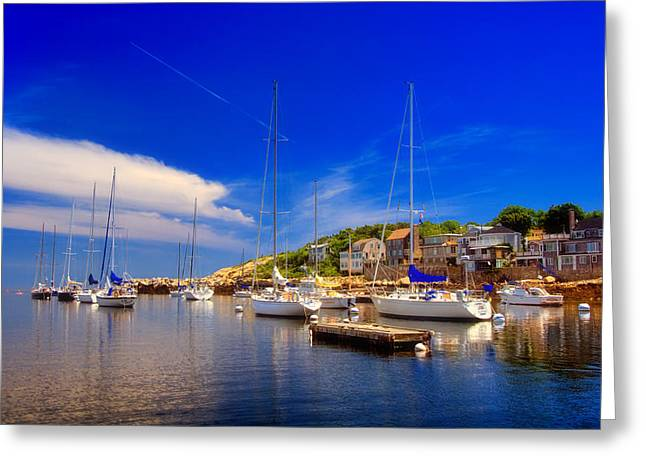 Row Boat Greeting Cards - Late Afternoon in Rockport Greeting Card by Joann Vitali