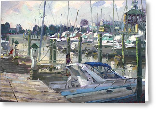 Va Greeting Cards - Late Afternoon in Virginia Harbor Greeting Card by Ylli Haruni