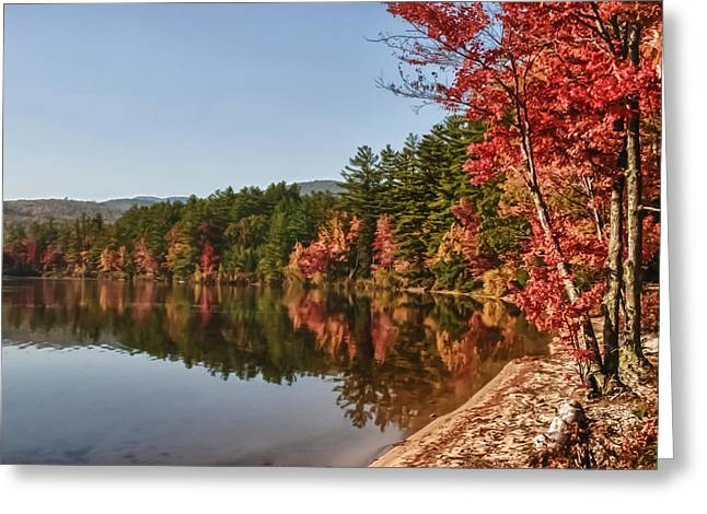 New England Autumn Greeting Cards - Late afternoon on Lake Chocorua Greeting Card by Jeff Folger