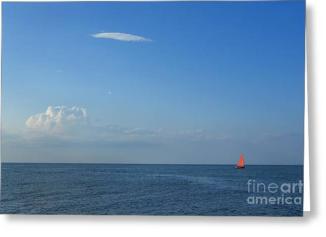 Cape Cod Bay Greeting Cards - Late Afternoon Sail Greeting Card by Diane Diederich