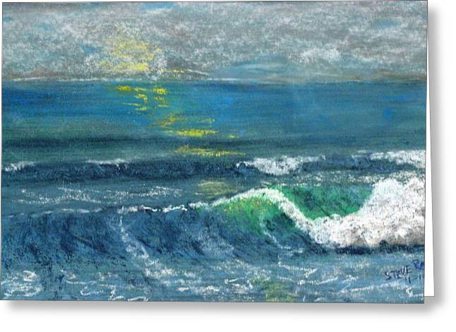 Arena Pastels Greeting Cards - Late Afternoon Sea Greeting Card by Stephen Raley