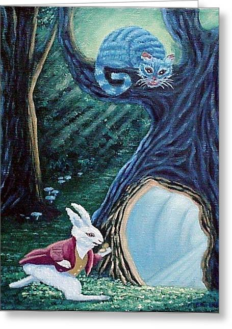 March Hare Greeting Cards - Late Again  Greeting Card by Fran Brooks