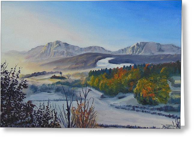 Fall Scenes Greeting Cards - Autumn Frost in Bavaria Greeting Card by Sue Birkenshaw