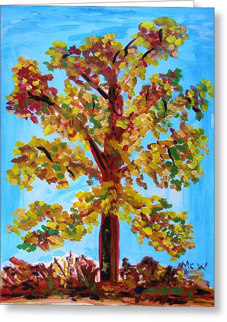 Local Art Drawings Greeting Cards - Late Autumn Survivor Greeting Card by Mary Carol Williams