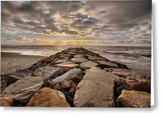 Locations Greeting Cards - Late Day at the Jetty Greeting Card by Peter Tellone