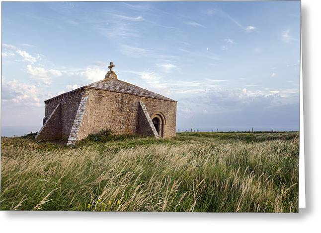 Historic England Photographs Greeting Cards - Late Evening at St Aldhelms Chapel in Dorset Greeting Card by Helen Hotson