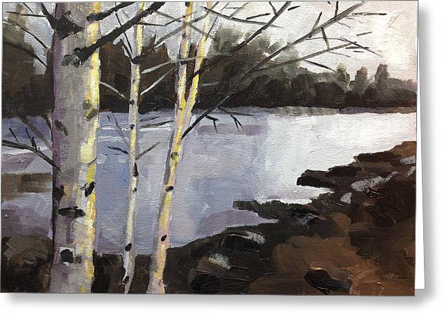 Late Fall Greeting Cards - Late Fall Deschutes River Greeting Card by Mary Medrano