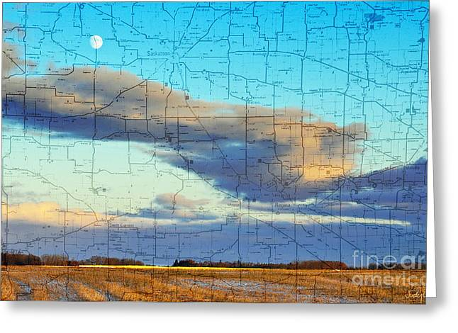 Prairie Sky Art Greeting Cards - Late Fall Fields Greeting Card by Judy Wood