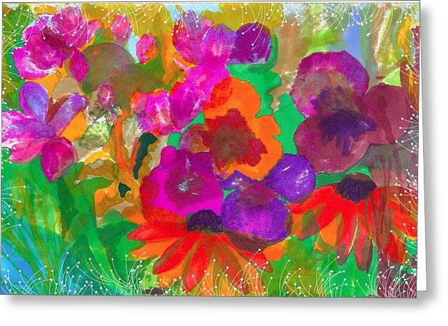 Claudia Smaletz Greeting Cards - Late Fall Garden Greeting Card by Claudia Smaletz