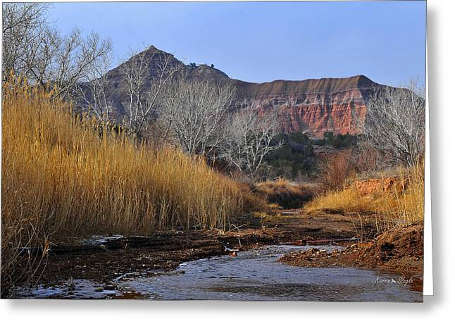 West Fork Greeting Cards - Late Fall in Palo Duro Canyon Greeting Card by Karen Slagle
