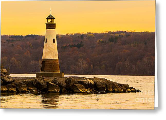 Fingerlakes Greeting Cards - Late fall sunset at Myers Park Greeting Card by Brad Marzolf Photography