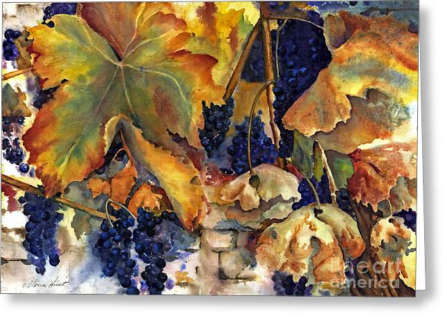 Grapevines Greeting Cards - Napas September Song Greeting Card by Maria Hunt