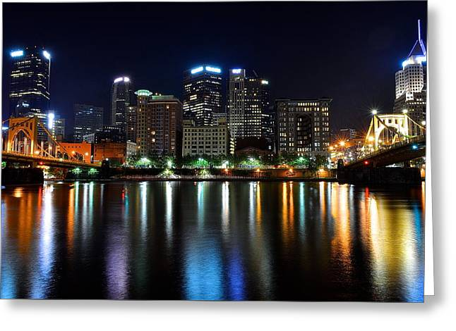 Late Night Out Greeting Card by Frozen in Time Fine Art Photography