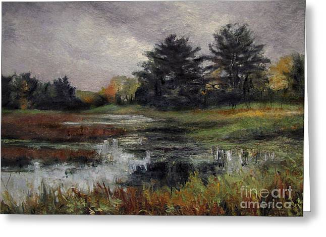Gregory Arnett Paintings Greeting Cards - Late November Storm Greeting Card by Gregory Arnett