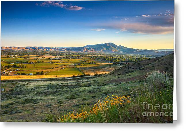 The Butte Greeting Cards - Late Spring Time View Greeting Card by Robert Bales