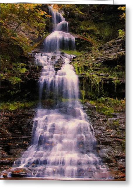 late summer Cathedral falls 2 Greeting Card by Chris Flees