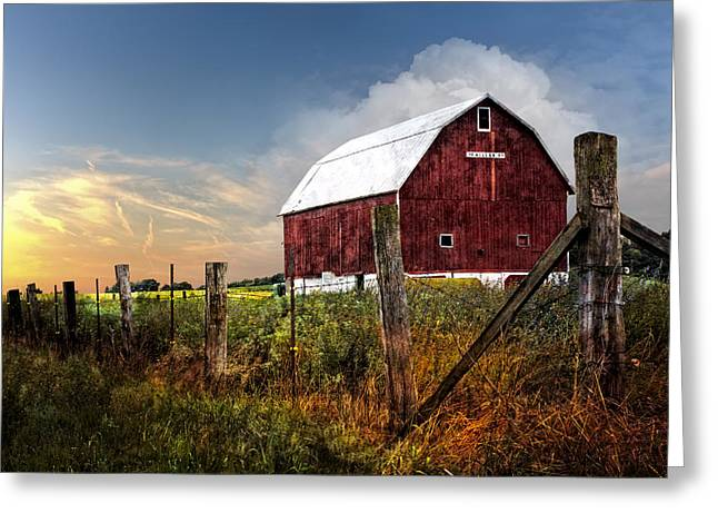 Late Summer Greeting Card by Debra and Dave Vanderlaan
