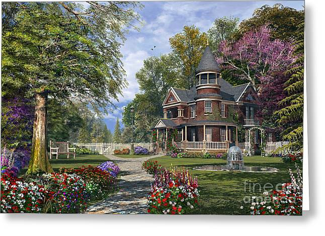 Victorian Greeting Cards - Late Summer Garden Greeting Card by Dominic Davison