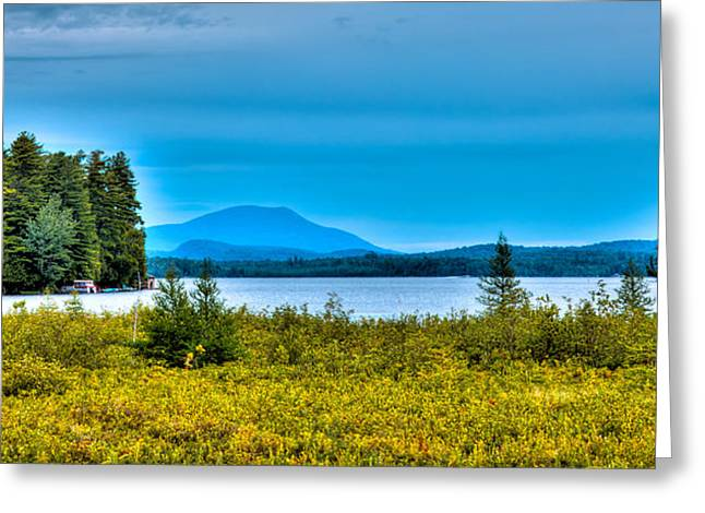 Fir Trees Greeting Cards - Late Summer on Raquette Lake Greeting Card by David Patterson