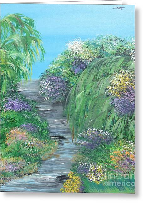 Indiana Rivers Paintings Greeting Cards - Late Summer On The White River Greeting Card by Alys Caviness-Gober