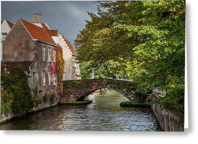 Recently Sold -  - Stepping Stones Greeting Cards - Late summer storm in Bruges Greeting Card by W Chris Fooshee