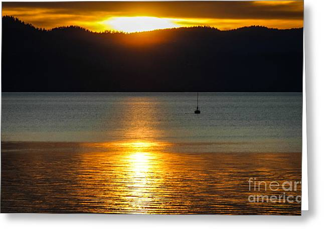 Late Summer Sunset Greeting Card by Mitch Shindelbower