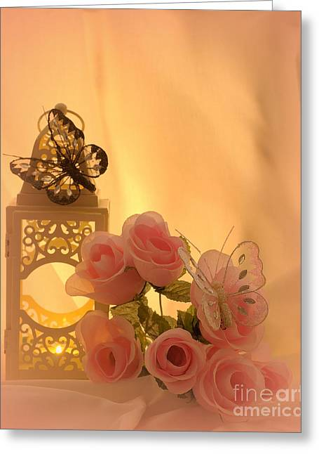 Candle Lit Greeting Cards - Late summers eve Greeting Card by Linsey Williams
