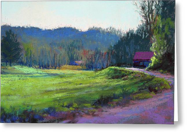 Georgia Pastels Greeting Cards - Late Valley Light Greeting Card by Marsha Savage