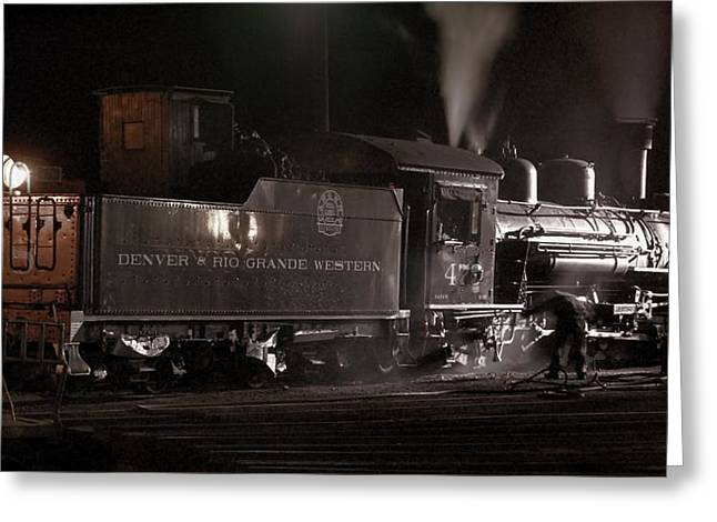 Engine House Greeting Cards - Latenight Cleaning Greeting Card by Ken Smith
