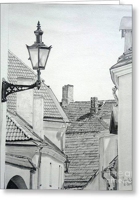 Latern Greeting Cards - Latern Greeting Card by Jackie Mestrom