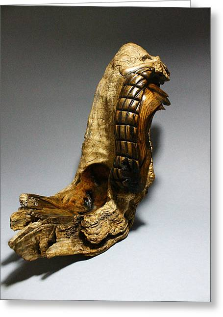 Wooden Sculpture Greeting Cards - Latertus 3 Greeting Card by Abram Barrett