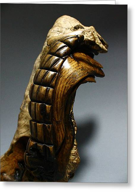 Wooden Sculpture Greeting Cards - Laterus 2 Greeting Card by Abram Barrett