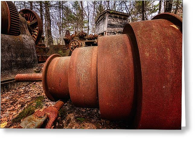 Lathe. Redstone Quarry Conway Nh Greeting Card by Jeff Sinon