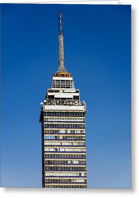 Mexico City Greeting Cards - Latin American Tower Greeting Card by Jess Kraft