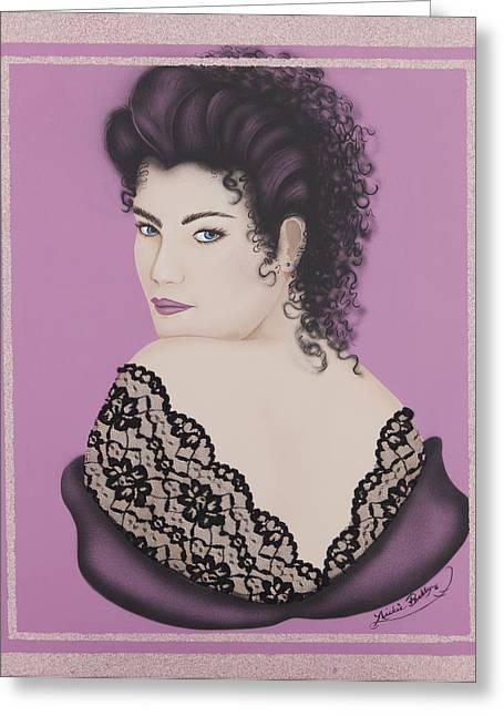 Latin Lace Greeting Card by Nickie Bradley