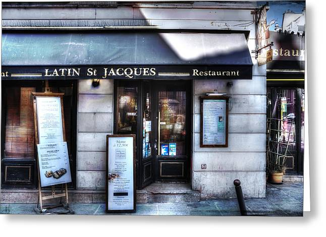Pause Greeting Cards - Latin St Jacques Paris France Greeting Card by Evie Carrier