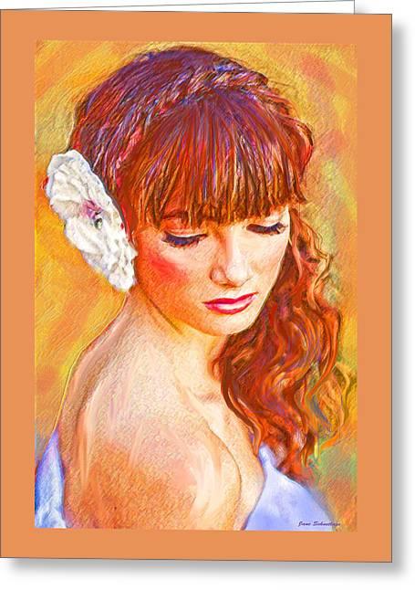 Latinas Greeting Cards - Latina Beauty Greeting Card by Jane Schnetlage