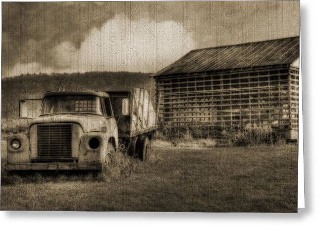 Layers Greeting Cards - Latsha Lumber Company Greeting Card by Shelley Neff