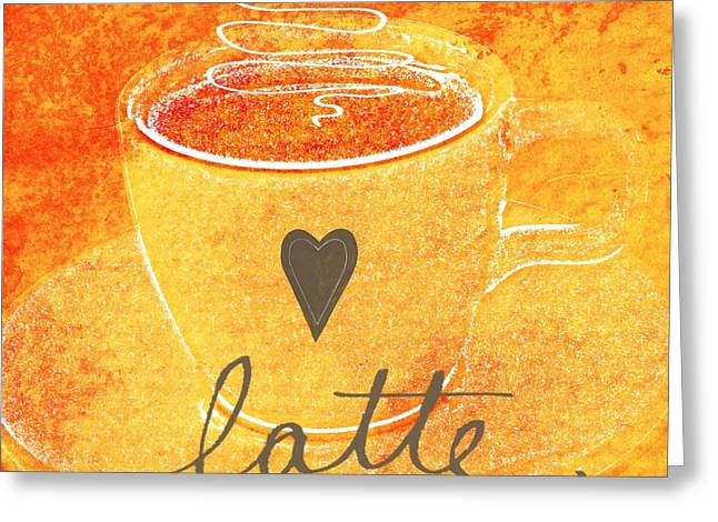 Latte Greeting Card by Linda Woods