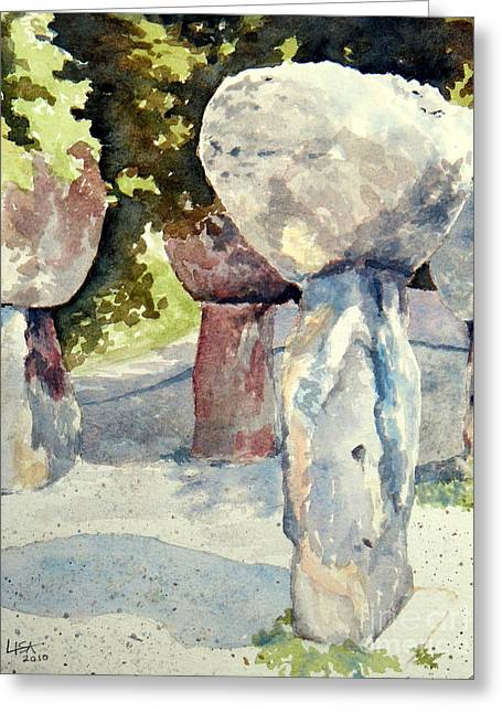 Latte Stone -sold Greeting Card by Lisa Pope