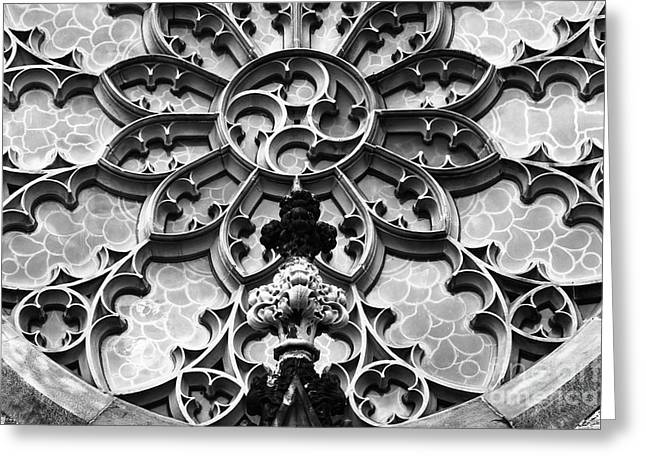 Carved Stone Greeting Cards - Lattice Stonework in Baltimore Greeting Card by James Brunker