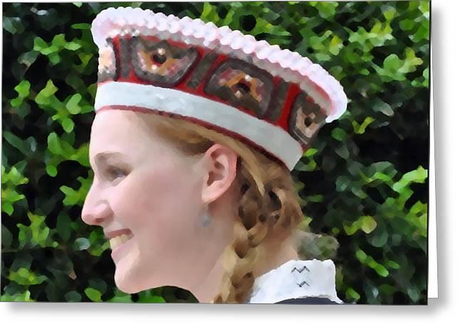 Lady Washington Greeting Cards - Latvia Maiden Greeting Card by Jost Houk
