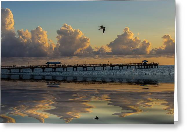 My Ocean Greeting Cards - Lauderdale by the sea pier Greeting Card by Kevin Cable