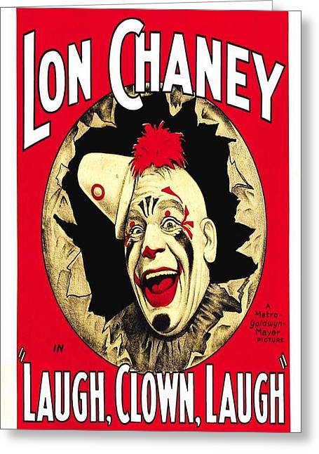 Motion Picture Poster Greeting Cards - Laugh  Clown  Laugh  Greeting Card by Movie Poster Prints
