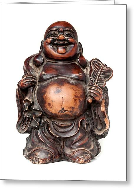 Laughing Buddha Greeting Card by Fabrizio Troiani