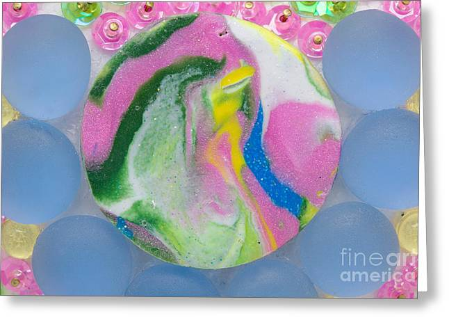 Roses Reliefs Greeting Cards - Laughing dolphin Greeting Card by Heidi Sieber