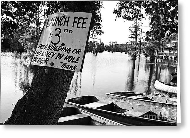 Canoe Photographs Greeting Cards - Launch Fee Greeting Card by Scott Pellegrin