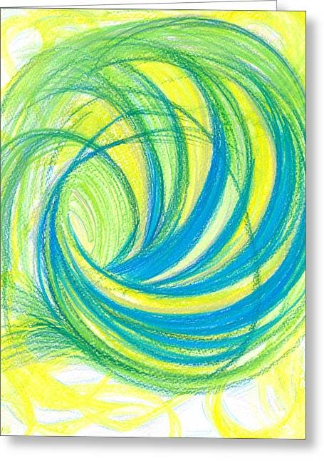 Popular Drawings Greeting Cards - Launch yourself on every wave Greeting Card by Kelly K H B
